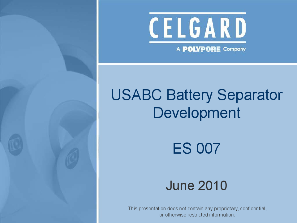 USABC Battery Separator Development
