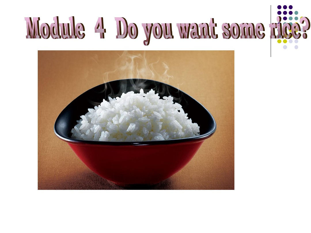 Module4 Unit1 Do you want some rice ?终结版1