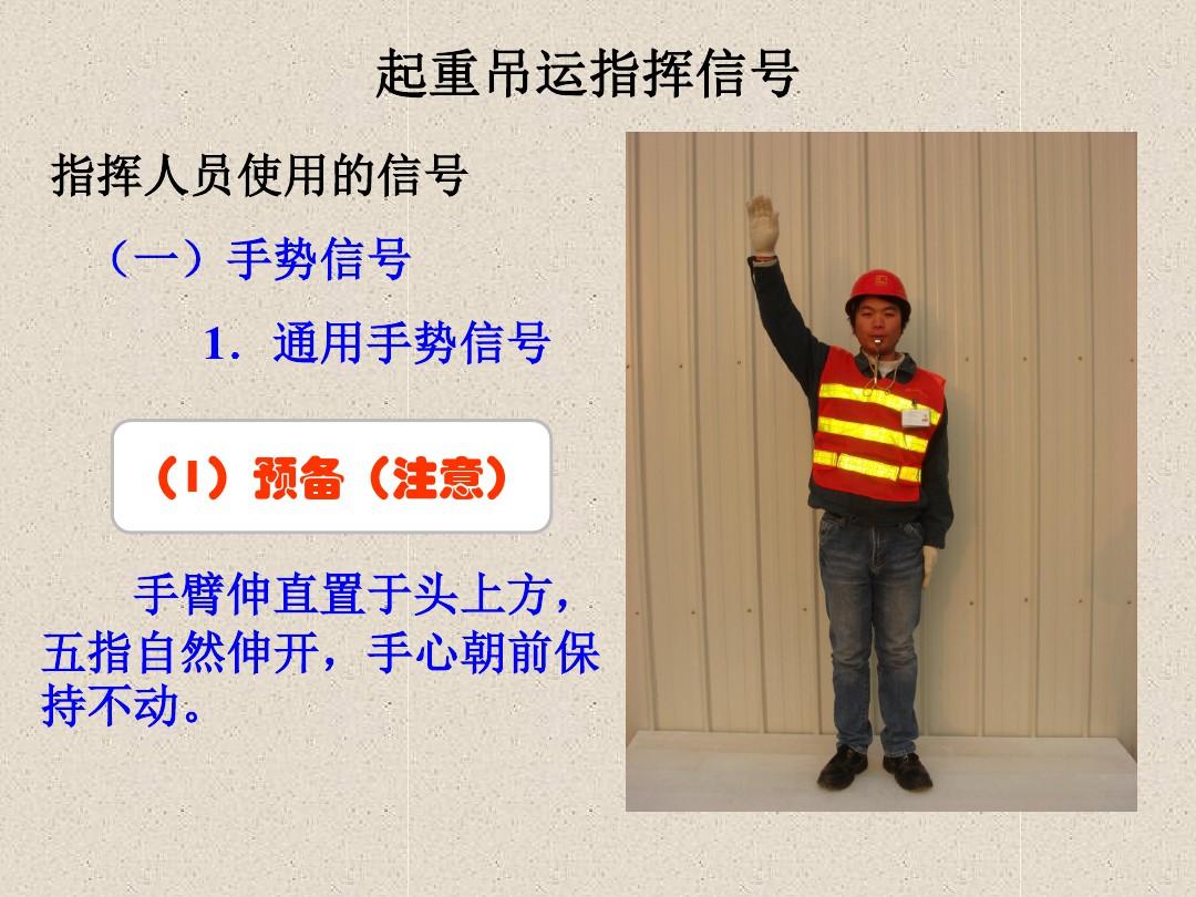 起重作业培训-指挥手势图解(2)