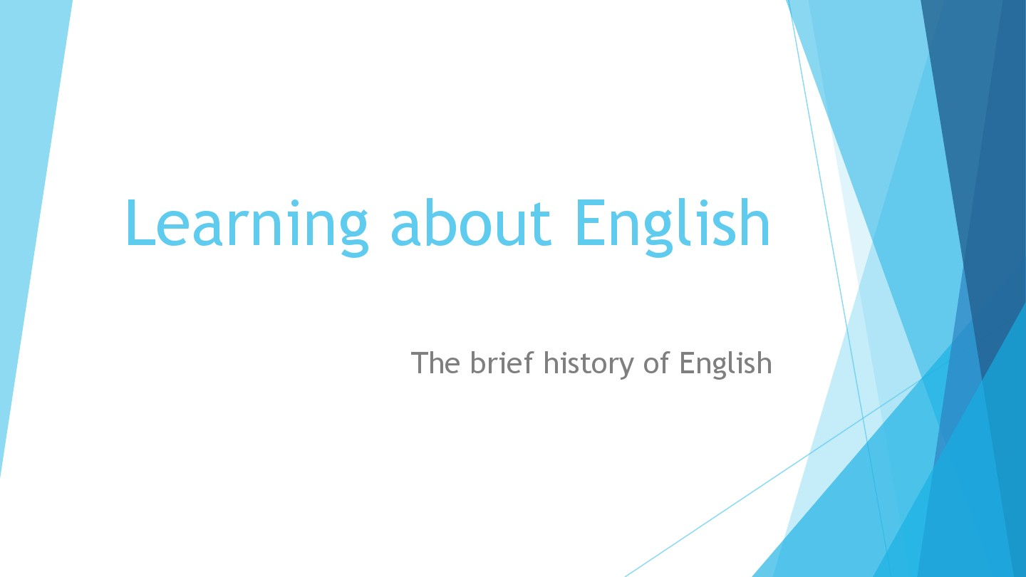 Learning about English