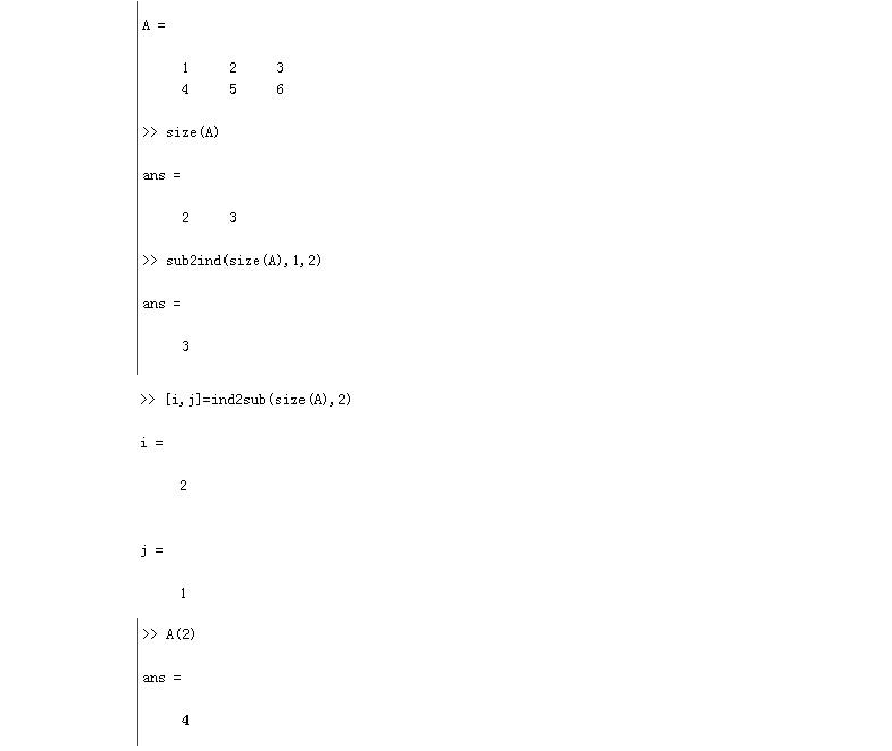 MATLAB中sub2ind和ind2sub-360文档中心