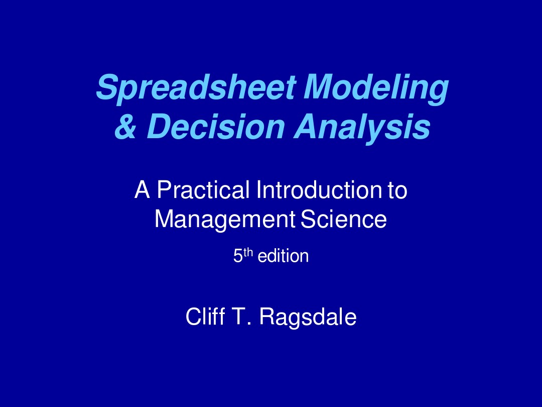 Decision Analysis_Chapter 09