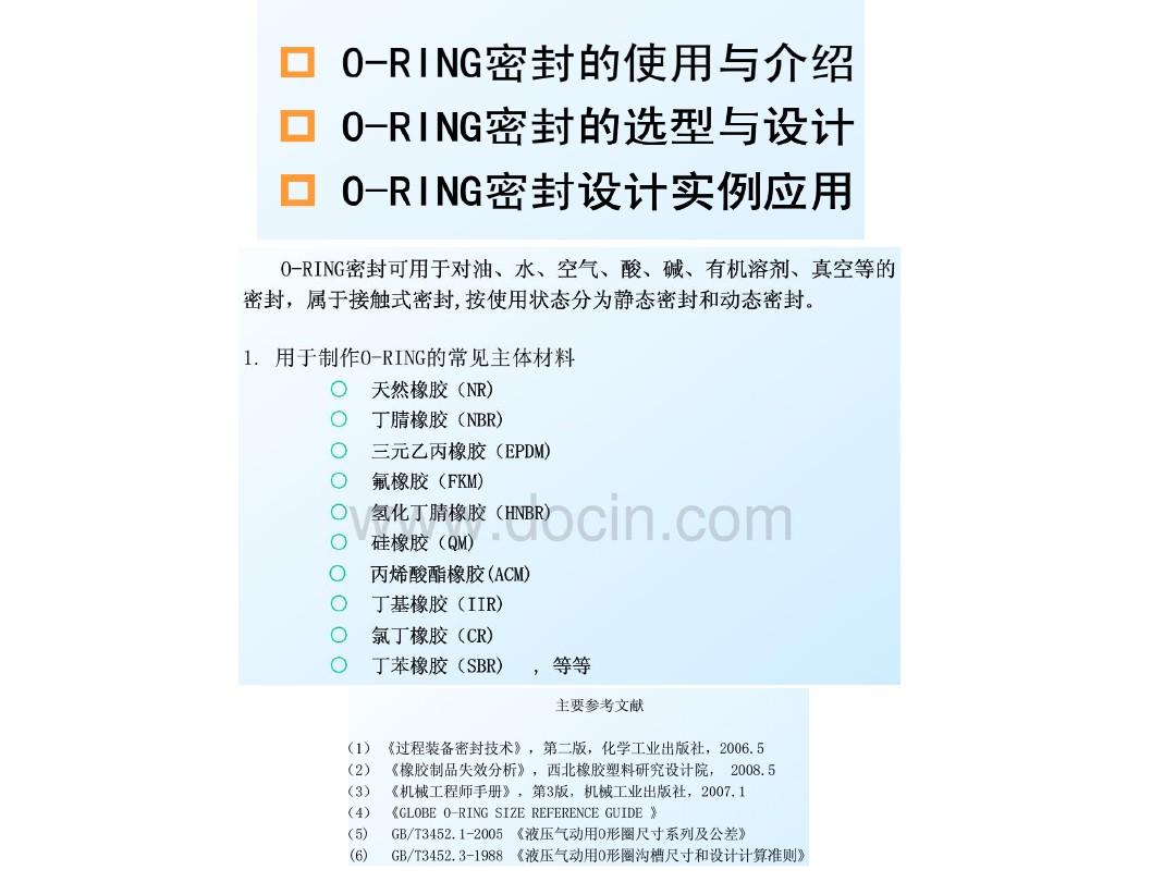 O Ring槽设计 360文档中心