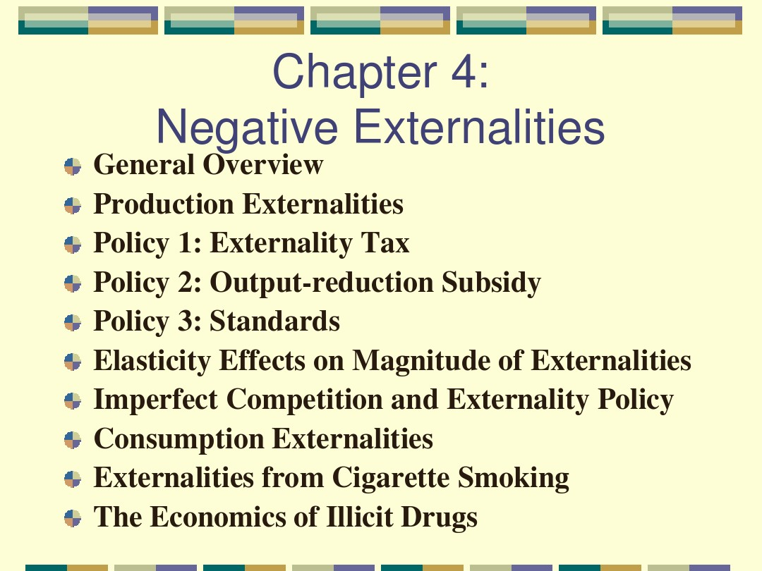 Chapter 4Negative Externalities