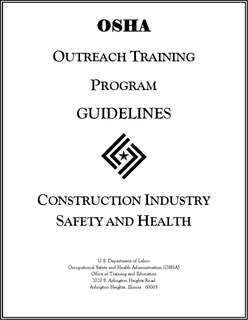 osha outreach training guideline--- Construction Guide update