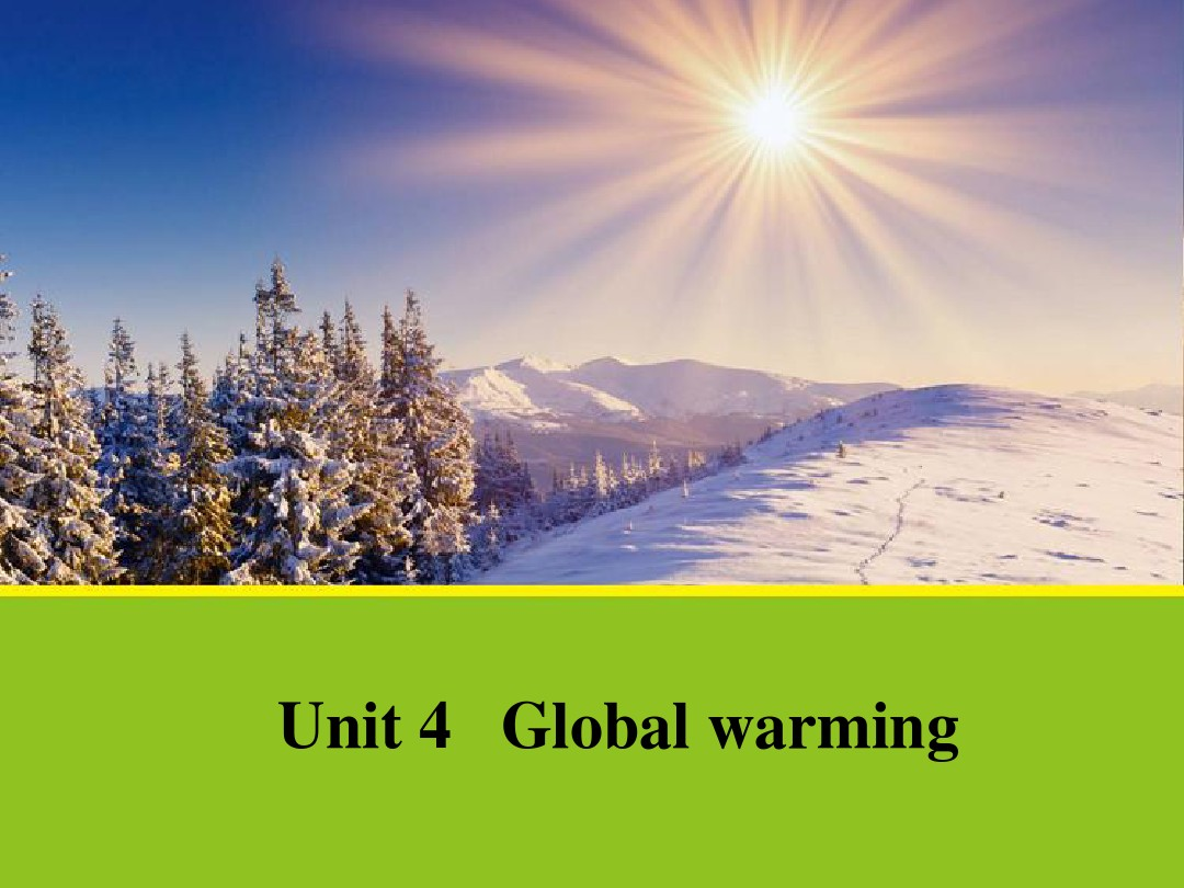 【英语】Unit 4《Section One Warming up and Pre-reading》课件 1(人教版选修6)