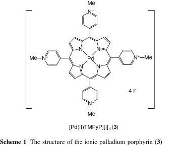 The Ionic Palladium Porphyrin as a Highly Efficient