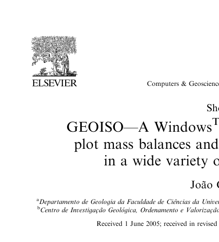GEOISO—A WindowsTM program to calculate and
