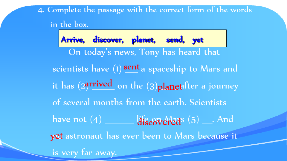 外研版八年級下冊module3journeytospaceunit1hasitarrivedyet共