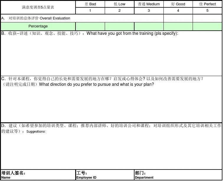 副本培训效果评估表Training_Evaluation_Form-APAC-007-Corp