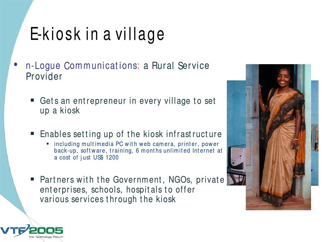 Bringing Technology to Rural Areas with specific reference to India