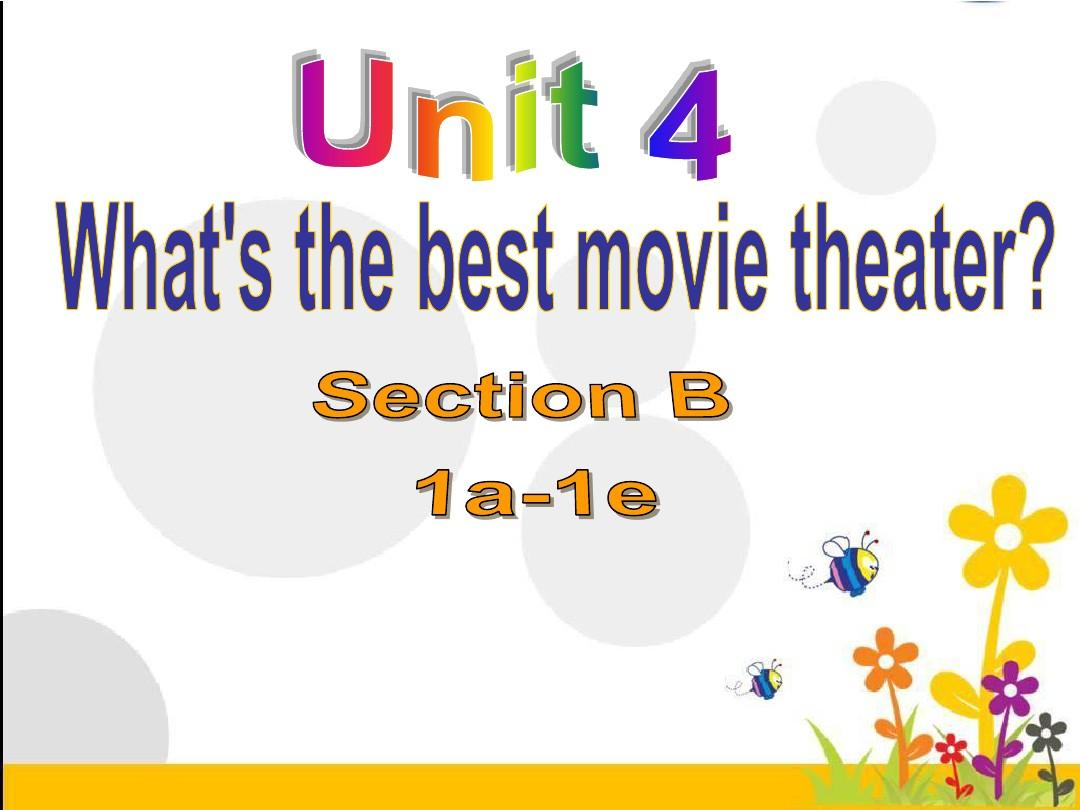 新人教版英语八年级上册《Unit 4 What's the best movie theater》Section B 课件