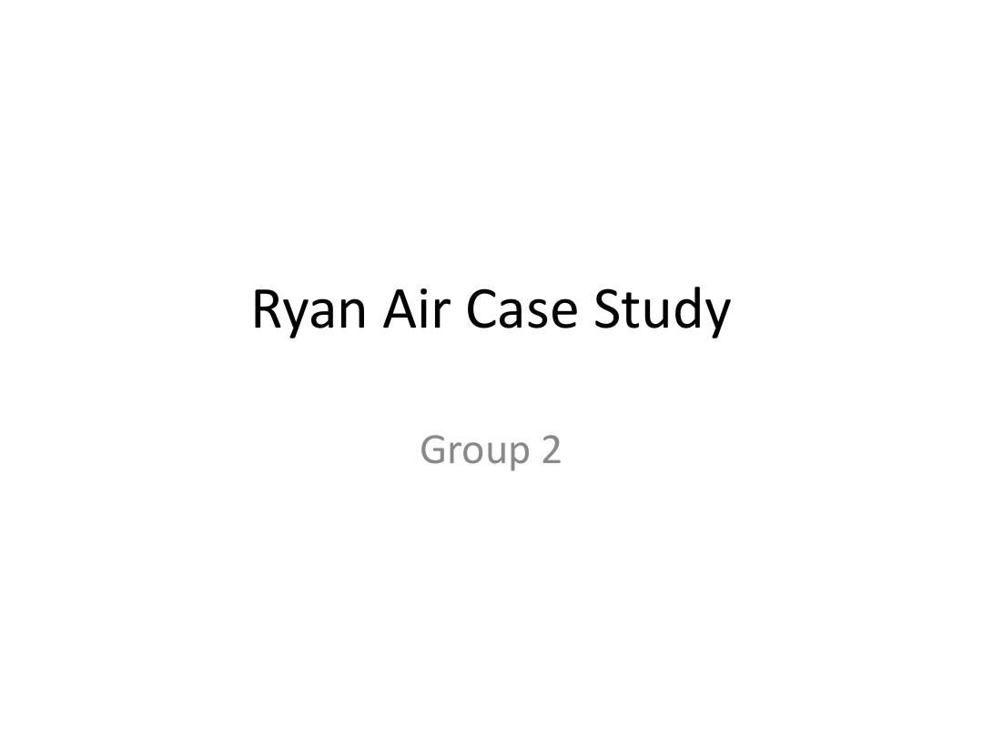 Ryan Air Case Study