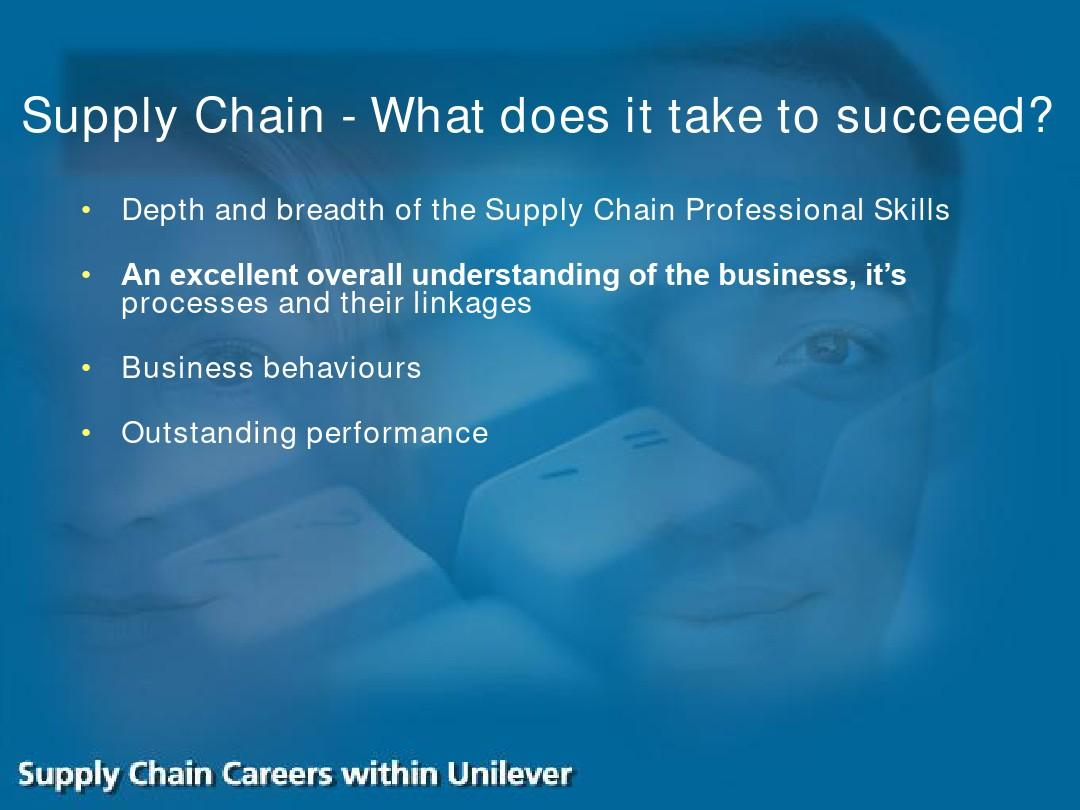 Supply Chain Careers within Unilever