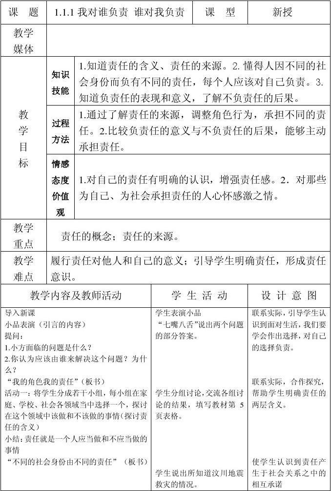 文档版新初中自传九政治年级目标_word作文在同桌初中人教的教案图片