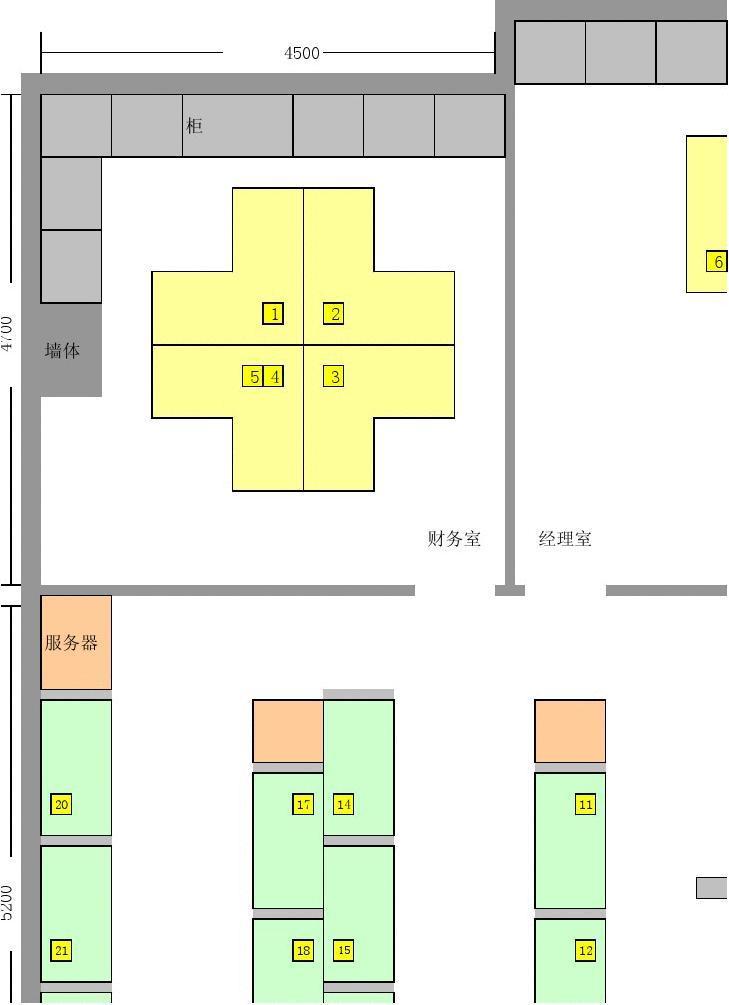 公司办公室布局平面图_word文档在线阅读与下载_文档网图片