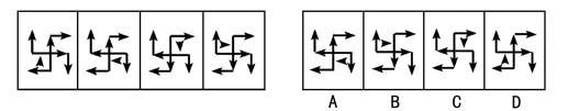 2014政法干警行测图形推理考前指导:旋转翻转规律