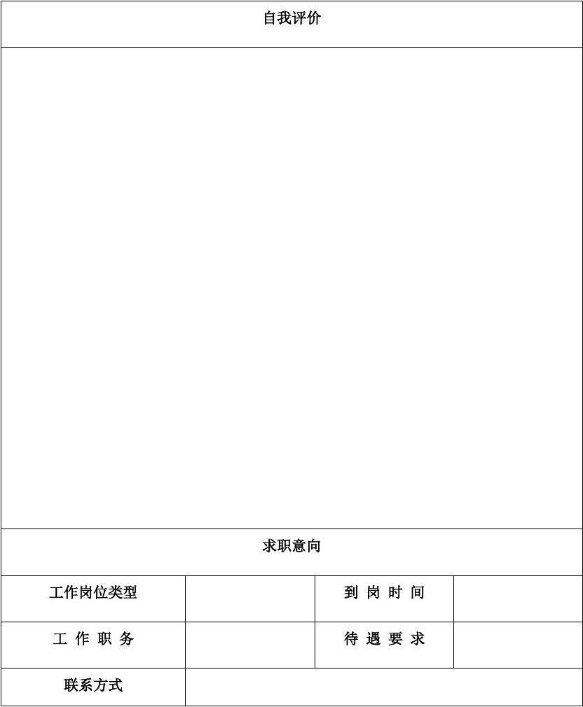 文档网 所有分类 求职/职场 简历封面/模板 护士简历表格  第2页 (共2图片