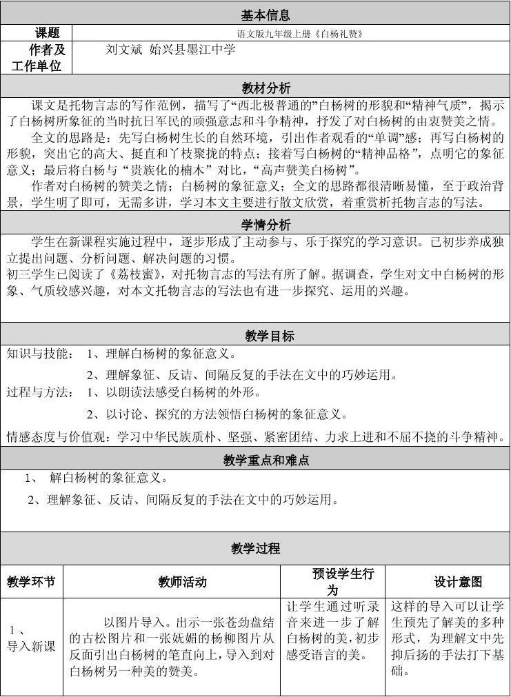 初中语文案例反思 醉翁亭记教案 少年闰土教学设计反思 小学语文教学