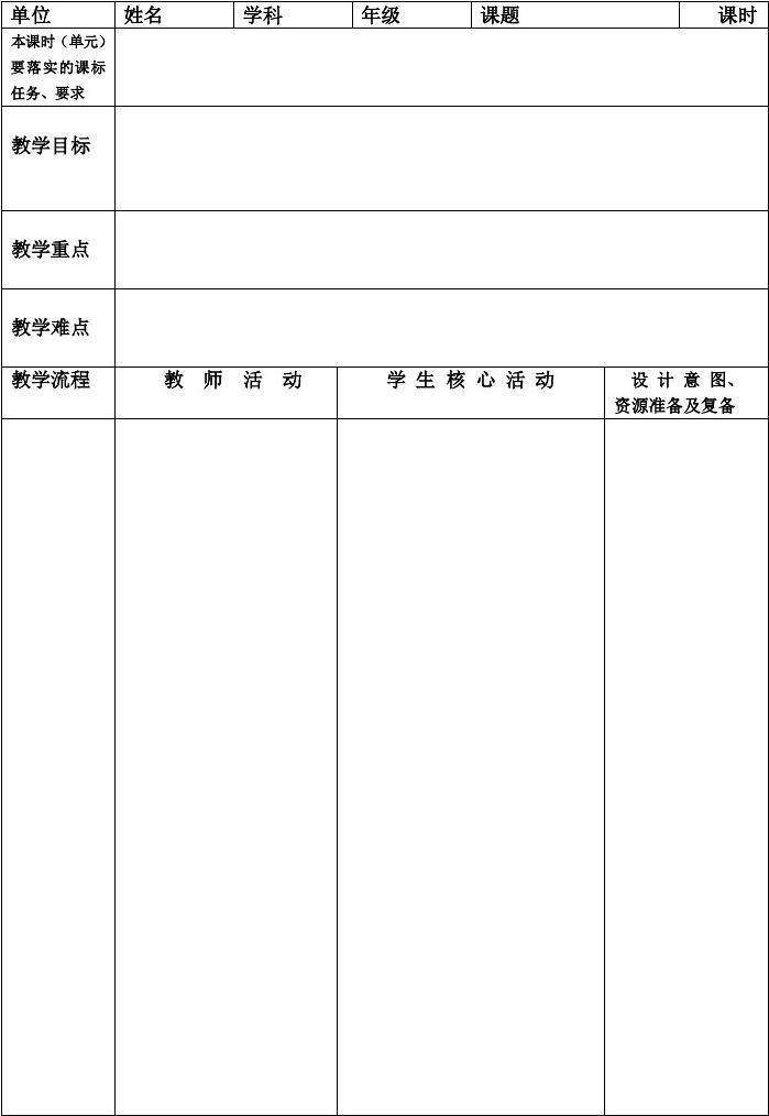当前第1页) 的相关文档搜索 相关文档 教学设计( 教案) 模板 教学设计
