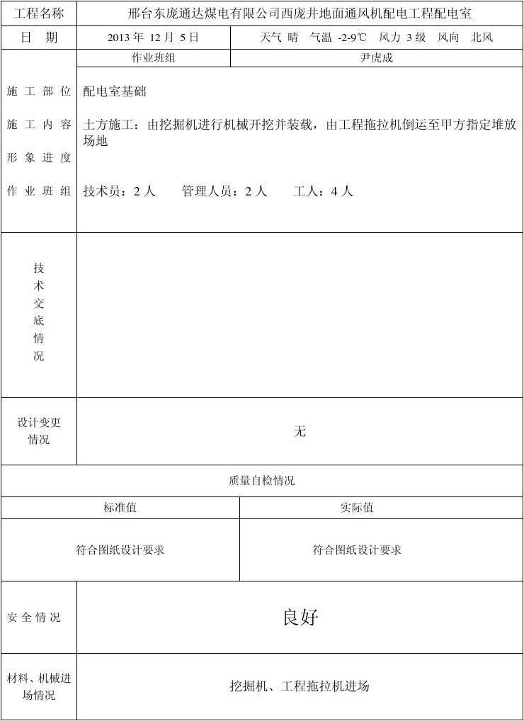 土建施工日志1