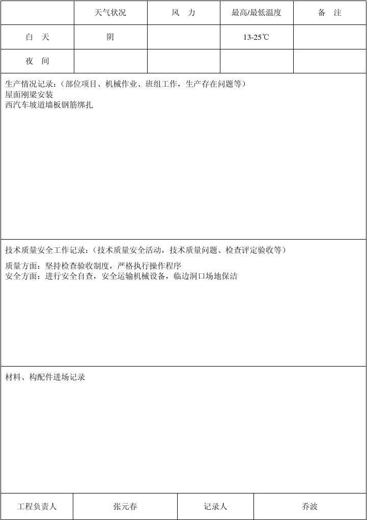 国检施工日志2006.11
