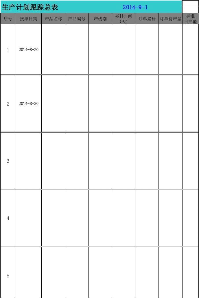 外贸单计划生产跟踪总表(1)