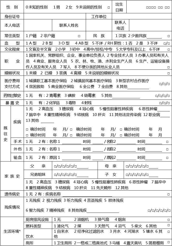 护士注册体检表_个人基本信息健康体检表_文档下载