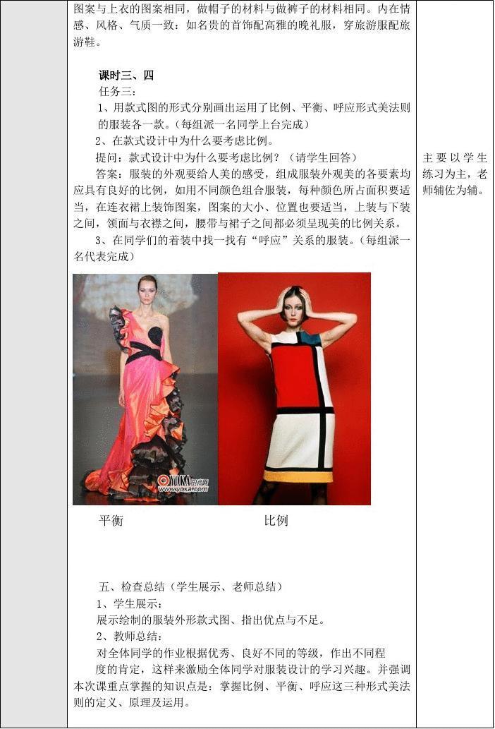 人文社科 设计/艺术 服装的形式美原理  服装设计基础,形式美原理图片