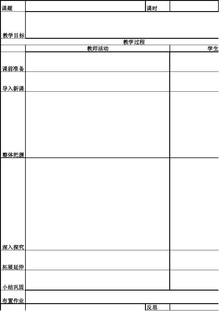 标准教案格式 教案格式表格 磁现象课件 初中语文教学设计 教案怎么写图片