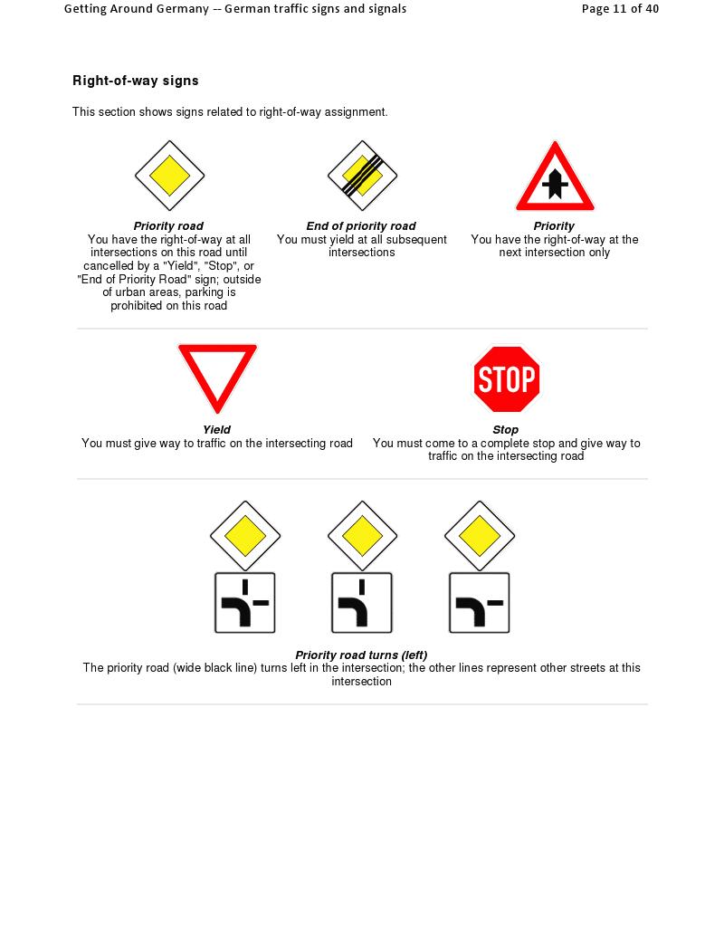德国道路交通标志标线规范软装v标志设计图图片