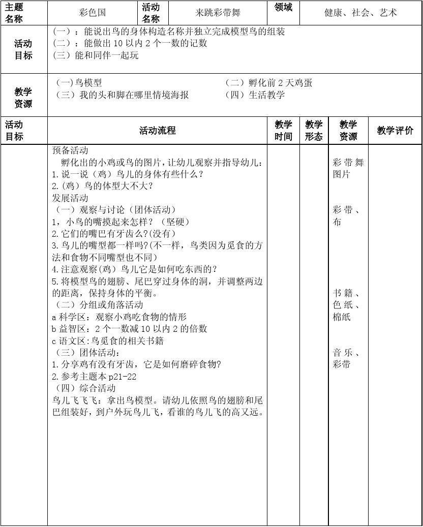 美术教案范文_幼师周教案_word文档在线阅读与下载_无忧文档