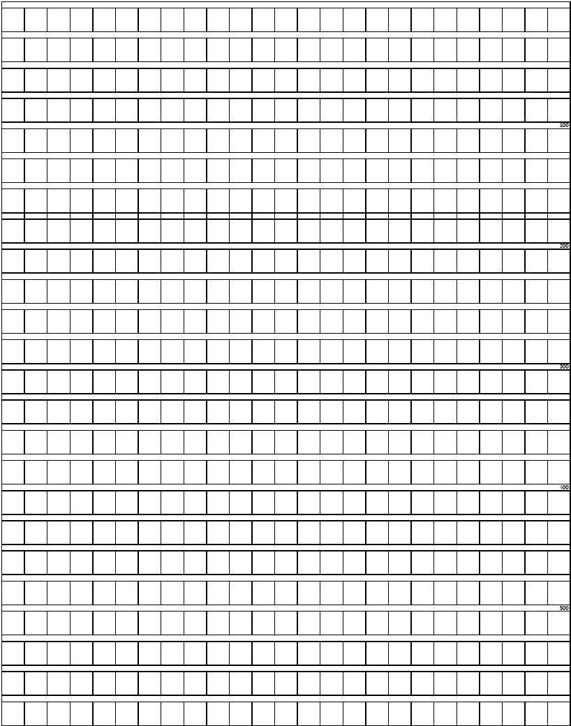 方格纸,申论答题卡A4打印模板