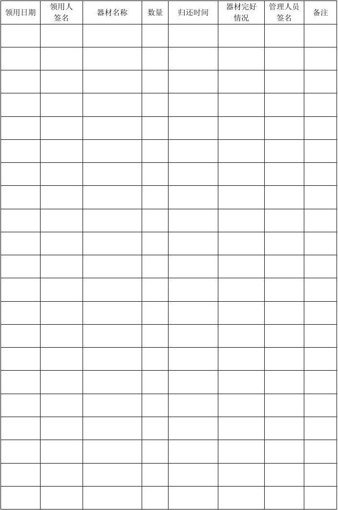 新干县美术教学设备使用情况记录表图片