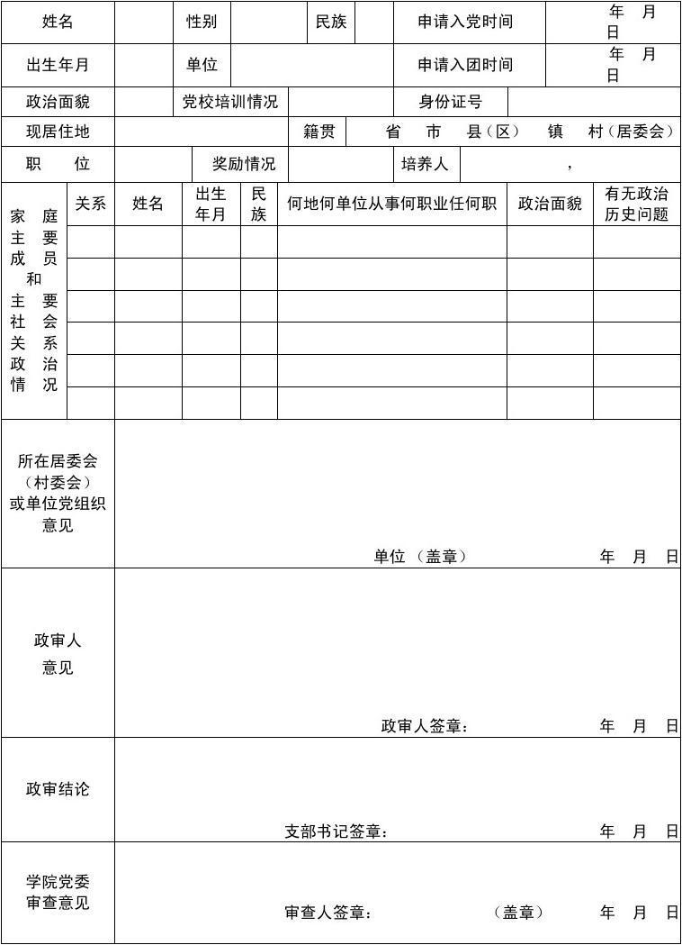 预备党员外调函_入党政审材料重要吗-关于入党政审材料的问题,有谁知道的,很急