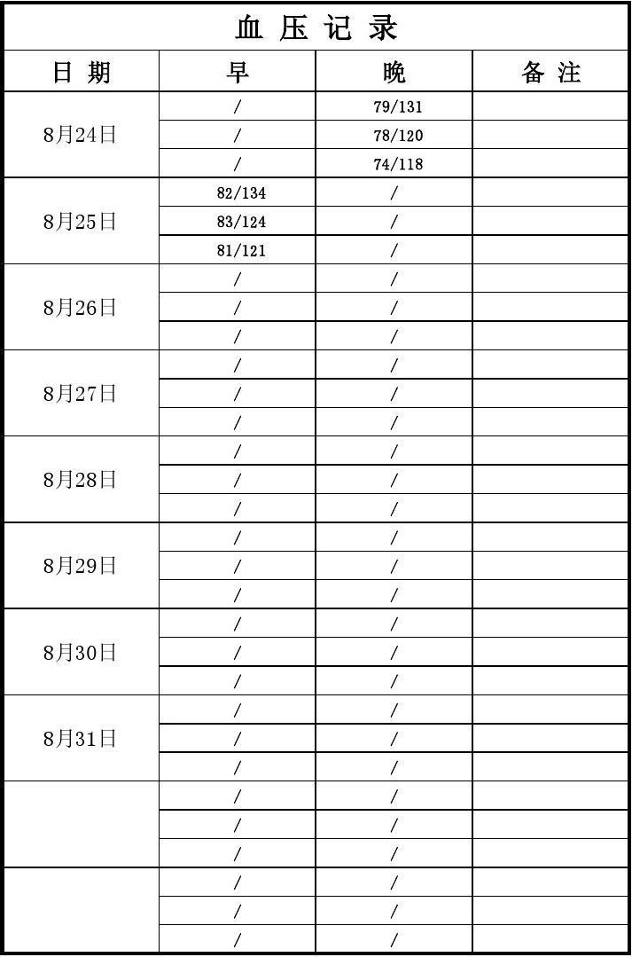月工作计划范文_血压记录表_word文档在线阅读与下载_免费文档