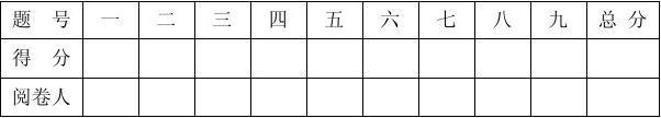 二语试卷模板