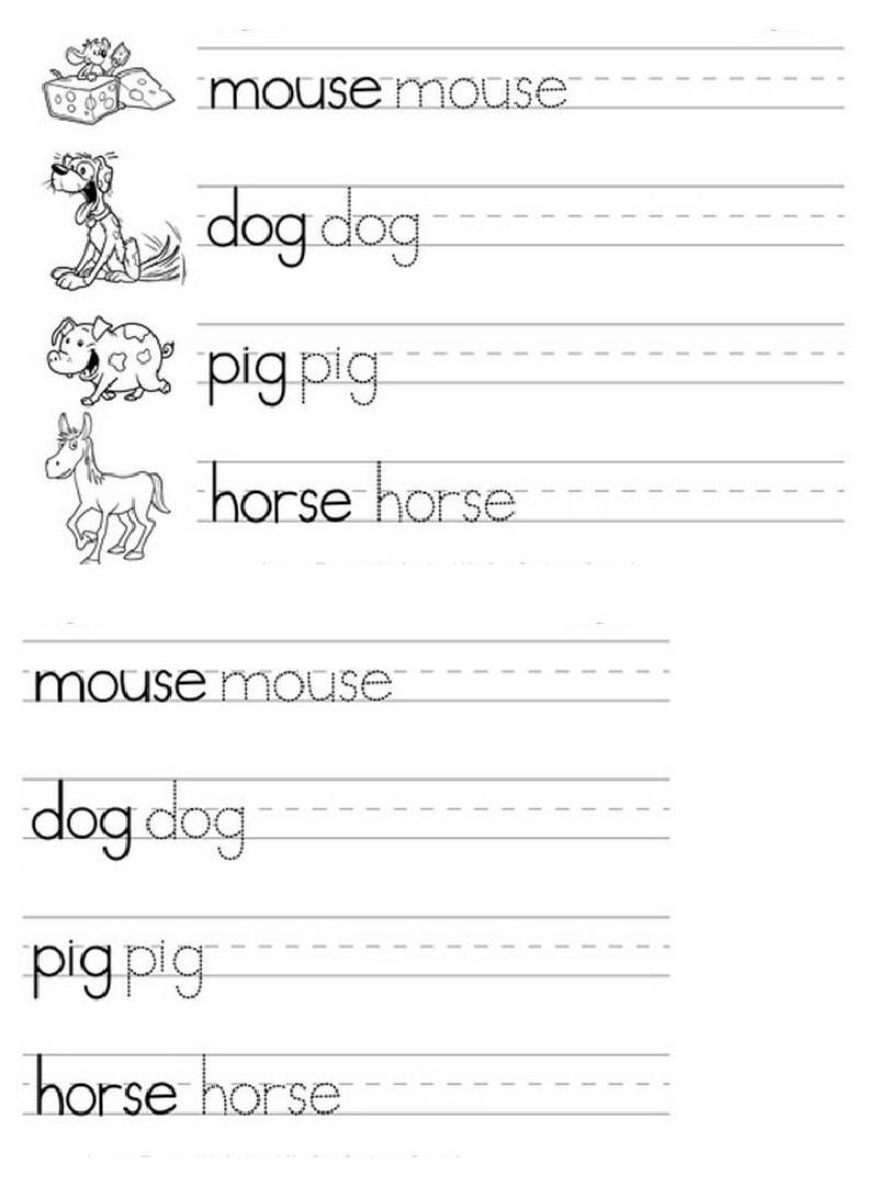 幼儿英语单词练习_附可打印版幼儿英语书写纸答案ppt图片