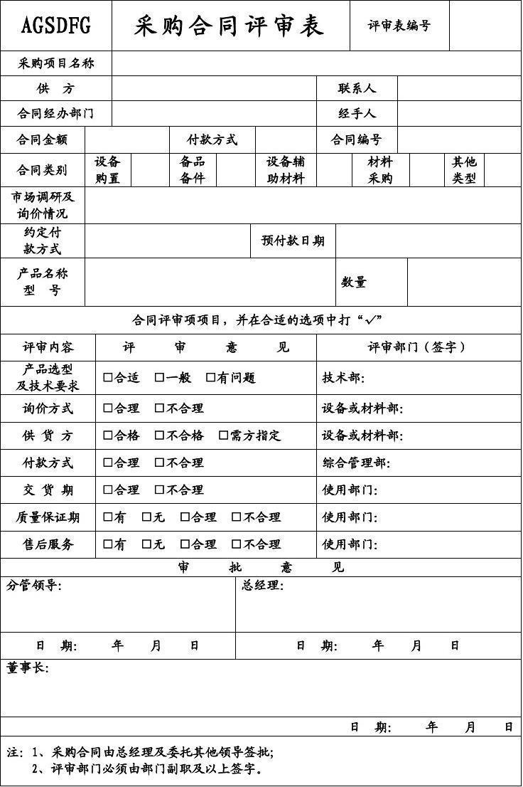 供应商综合管理评审表图片