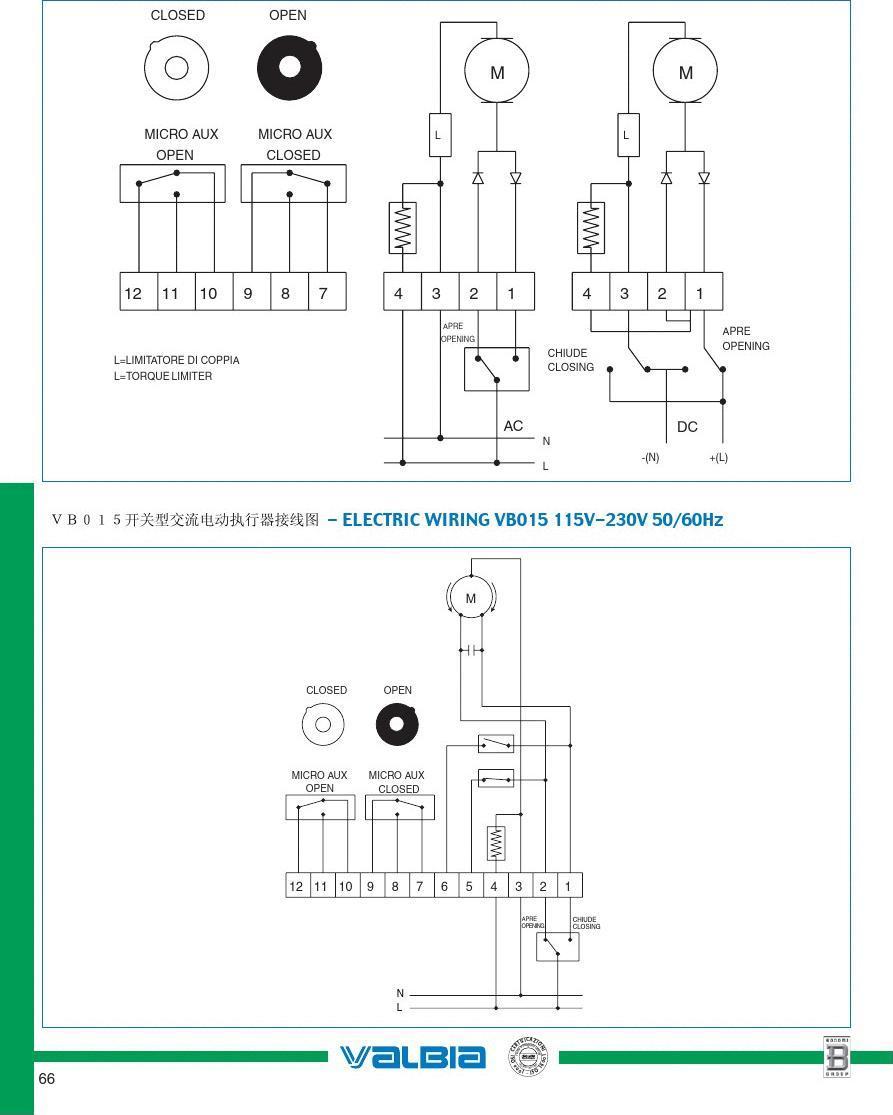 阀门知识简介完全版下 工程电路 电动执行器说明书 电动机接线图图片