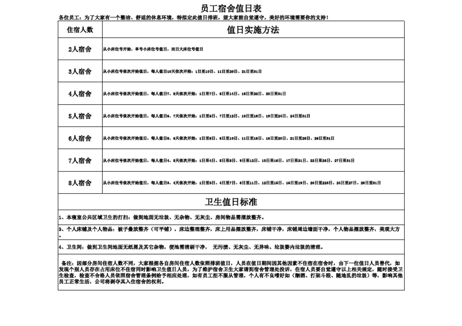 宿舍值日表_宿舍值日表_word文档在线阅读与下载_无忧文档