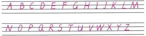 英文26个字母书写格式.打印