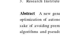 Niche Pseudo-Parallel Genetic algorithms for Path Optimization of Autonomous Mobile Robot