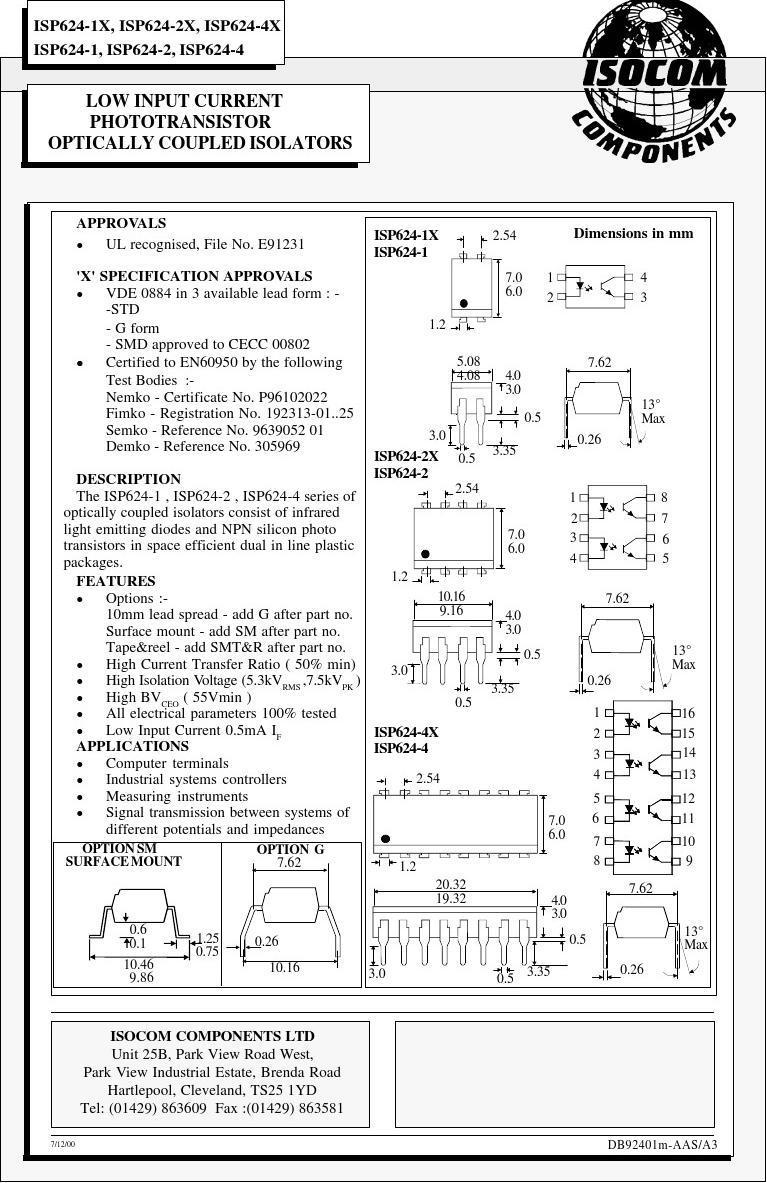 ISP624-1X中文资料