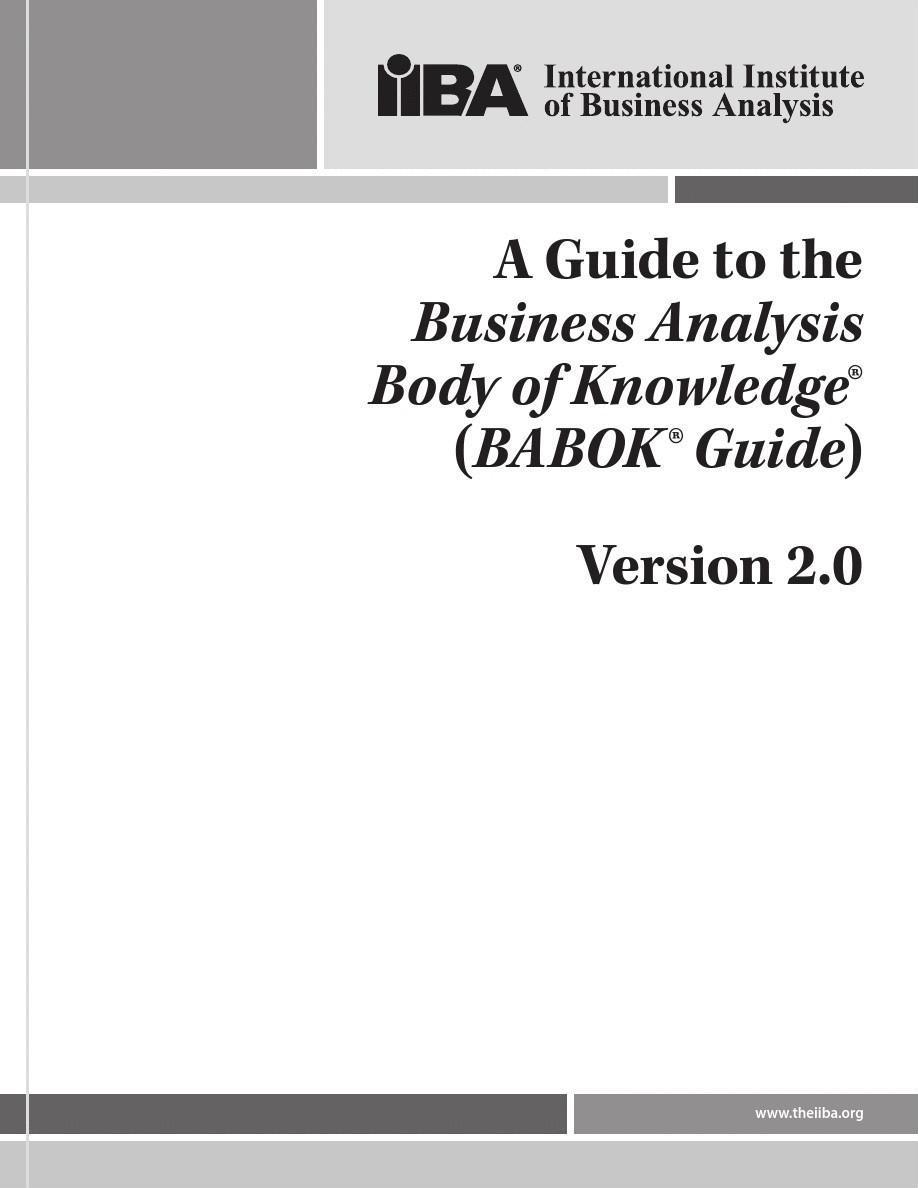 BABOK Guide v2.0