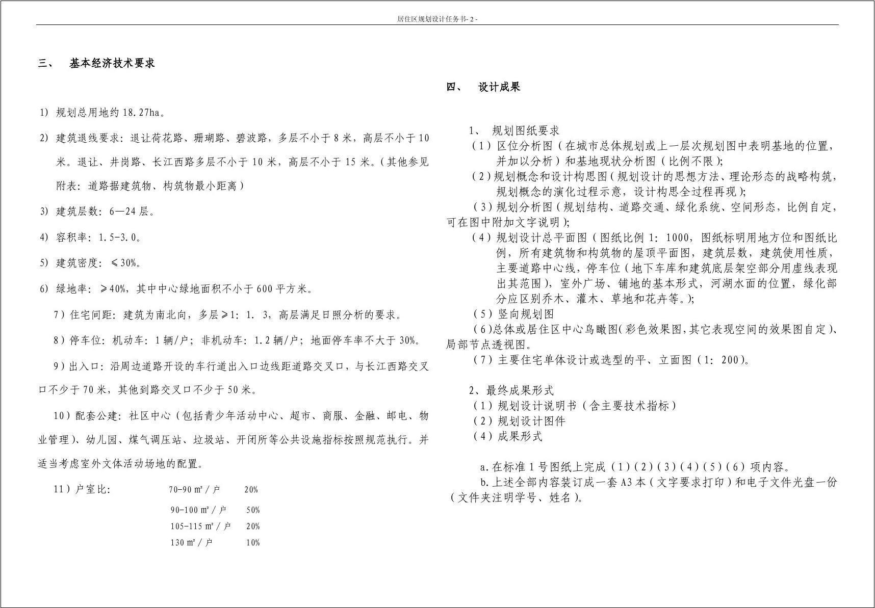 v图纸图纸规划设计任务书室内设计小区cad源文件图片