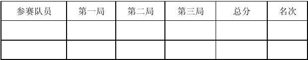 乒乓球比赛计分表