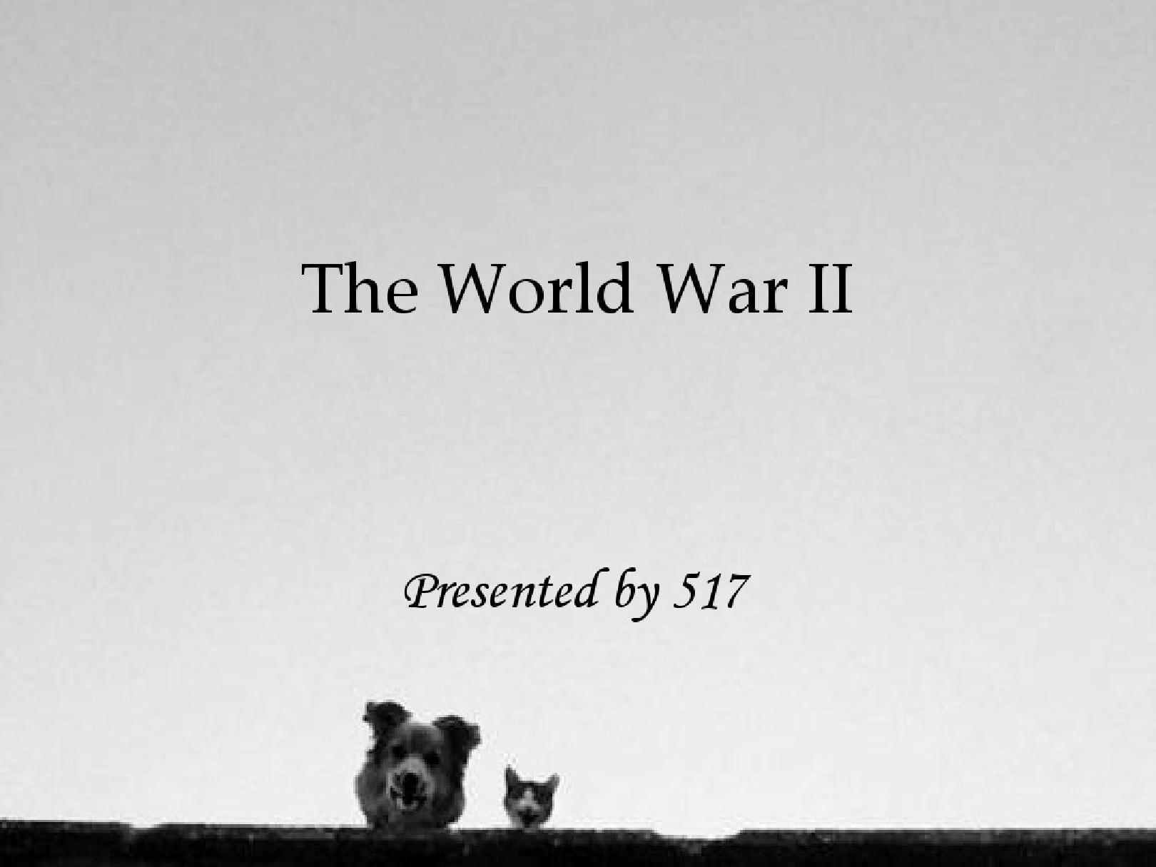 第二次世界大战英语原创