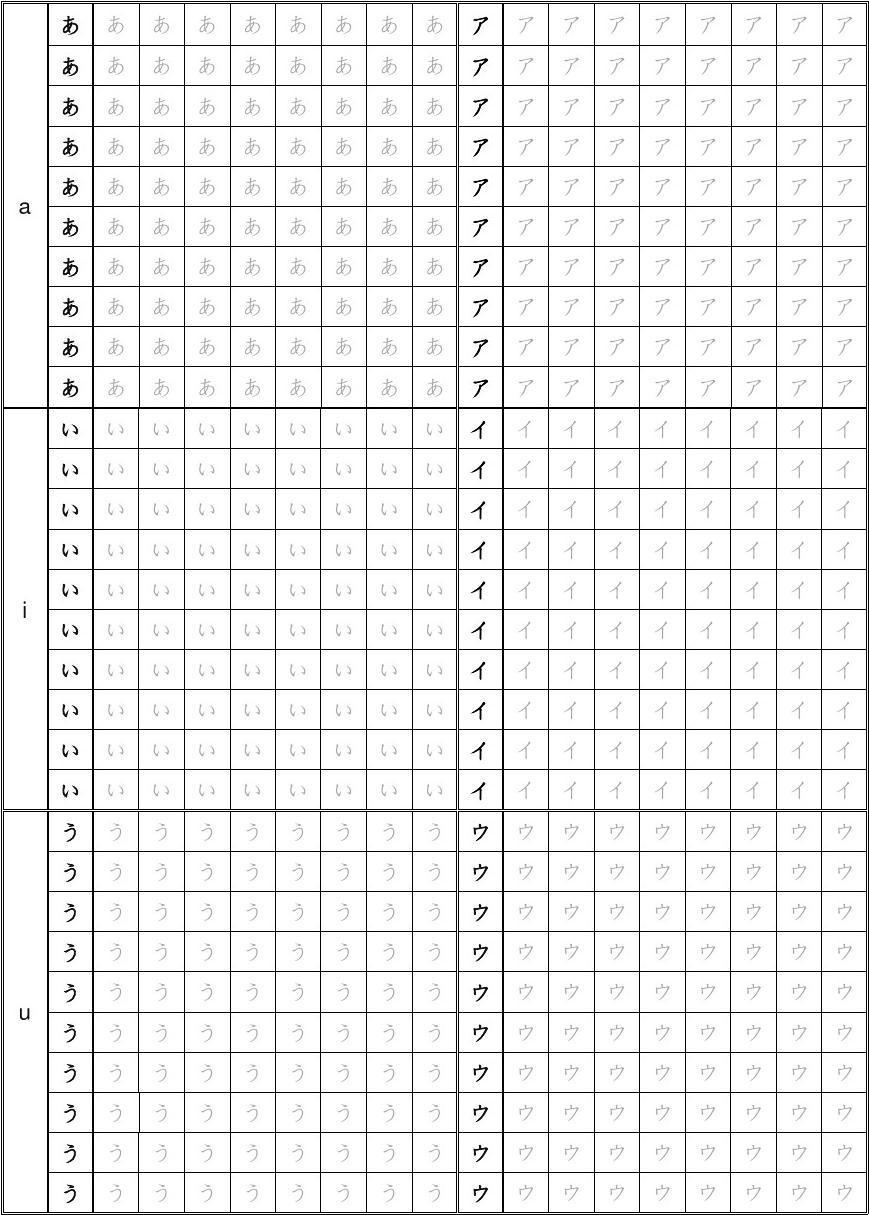 日语五十音图练字表格绘制电气图使用的五种图线图片