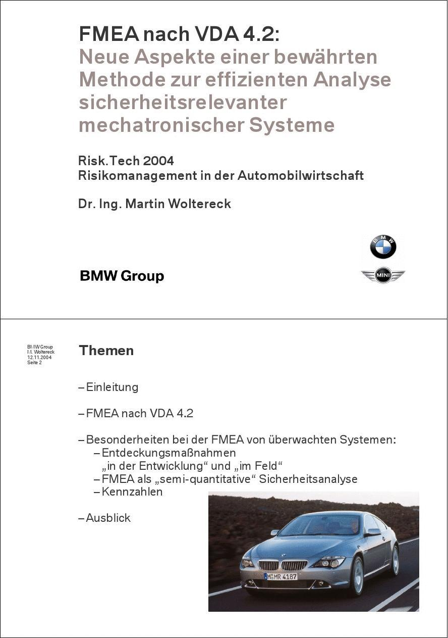 BMW FMEA according to VDA4.2